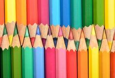 Gekleurde potloden royalty-vrije stock foto's