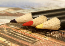 Gekleurde potloden stock illustratie