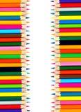 Gekleurde potloden op witte achtergrond Royalty-vrije Stock Afbeelding