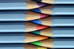 Gekleurde potlodenmacro Stock Foto's
