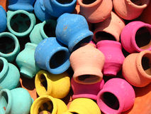 Gekleurde Potten Stock Foto