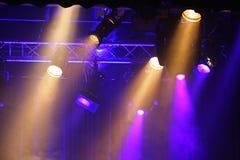 Gekleurde projectoren Royalty-vrije Stock Afbeeldingen
