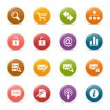 Gekleurde punten - de Klassieke Pictogrammen van het Web stock illustratie