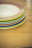 Gekleurde rand van een plaat Stock Foto