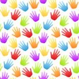 De naadloze Regenboog overhandigt Patroon Stock Afbeelding