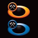 Gekleurde ringen met gekruiste assen Stock Fotografie