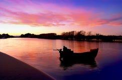 Gekleurde rivier royalty-vrije stock foto