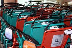 Gekleurde rolstoelen royalty-vrije stock afbeeldingen