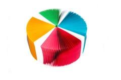 Gekleurde rond gemaakte blocnote Stock Foto's