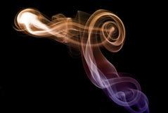 Gekleurde rook 2 Royalty-vrije Stock Afbeeldingen