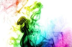 Gekleurde rook royalty-vrije stock fotografie