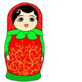Gekleurde Russische matrioshka Stock Afbeelding