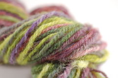 Gekleurde schapenwol Stock Foto's