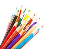 Gekleurde scherpe potloden stock foto