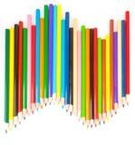 Gekleurde scherpe potloden Royalty-vrije Stock Afbeeldingen