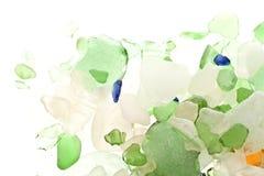 Gekleurde scherven van glas Stock Foto's