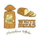 Gekleurde schetsen van Canadees Wit brood vector illustratie