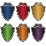 Gekleurde schilden Stock Afbeelding