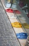 Gekleurde schoenen Stock Foto's
