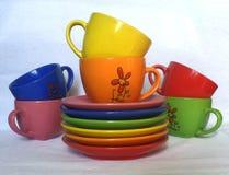 Gekleurde schotels Royalty-vrije Stock Fotografie