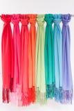 Gekleurde sjaals Royalty-vrije Stock Afbeeldingen