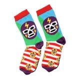 Gekleurde sokken op een witte achtergrond royalty-vrije stock foto