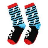 Gekleurde sokken op een witte achtergrond royalty-vrije stock afbeeldingen