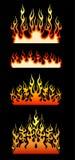 Gekleurde stammenvlammen Royalty-vrije Stock Afbeelding