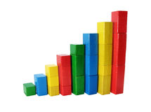 Gekleurde statistiek Stock Foto