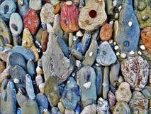 Gekleurde stenen achtergrond overzeese motieven royalty-vrije stock foto