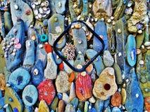 Gekleurde stenen achtergrond overzeese motieven stock fotografie