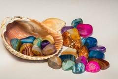 Gekleurde stenenagaat Stock Afbeeldingen