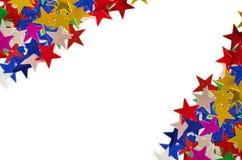 Gekleurde sterrenachtergrond Stock Afbeelding