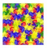 Gekleurde sterrenachtergrond Stock Afbeeldingen