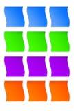 Gekleurde stickers Stock Afbeeldingen