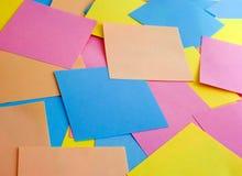 Gekleurde stickers voor zaken Royalty-vrije Stock Afbeeldingen