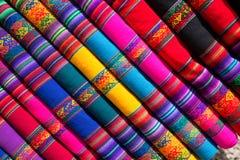 Gekleurde stof stock afbeelding