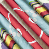 Gekleurde stoffen Royalty-vrije Stock Afbeeldingen