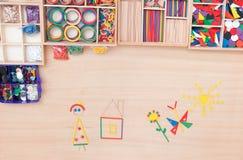 Gekleurde stokken voor het vouwen van cijfers Stock Afbeeldingen
