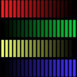 Gekleurde strepen op een zwarte achtergrond Stock Afbeeldingen