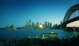 Gekleurde Sydney oriëntatiepunten Stock Fotografie