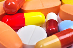 Gekleurde tabletten Stock Afbeeldingen