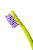 Gekleurde tandenborstel die op witte achtergrond wordt geïsoleerdt Stock Fotografie