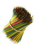 Gekleurde Tandenstokers Stock Afbeelding