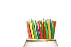 Gekleurde Tandenstokers Stock Foto