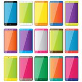 Gekleurde telefoons Stock Afbeeldingen