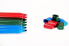 Gekleurde tellers Stock Afbeelding