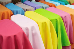 Gekleurde textiel Stock Foto
