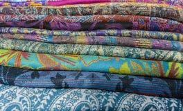 Gekleurde textiel Stock Fotografie