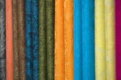Gekleurde Textiel Royalty-vrije Stock Foto's
